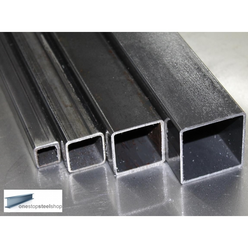 60 x 60 x 3mm  STEEL MILD BOX SECTION VARIOUS SIZES SQUARE TUBE PIPE